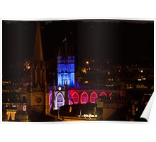 Bath Abbey at night Poster