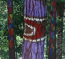 Painted forest in Oma Valley by MitchHippie