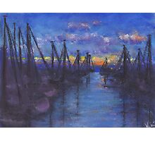 Oceanside Sunset (Pastel) Photographic Print