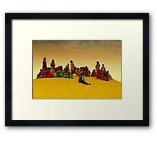 The Colors of Rajasthan and Sam Sand Dunes Framed Print