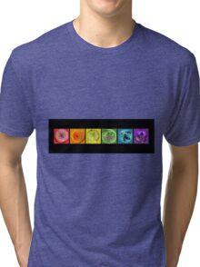Rainbow Flower Swirls  Tri-blend T-Shirt