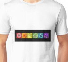 Rainbow Flower Swirls  Unisex T-Shirt