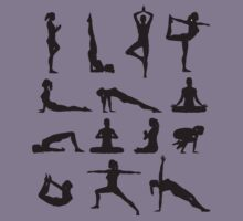 Yoga Poses BW Kids Clothes