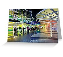 Airport Traffic Greeting Card