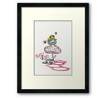tea alice? Framed Print