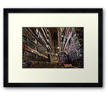 Graffiti Lane Framed Print