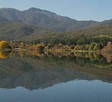 Reflection on Mount Beauty by David Hunt