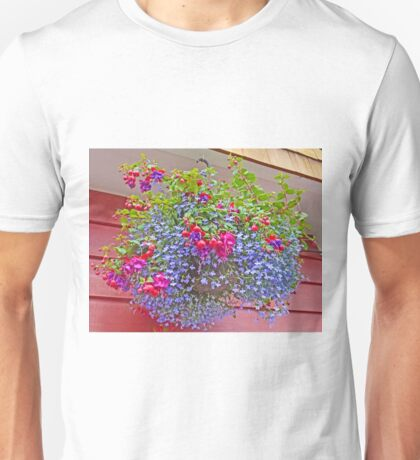 A colourful Hanging Basket Unisex T-Shirt