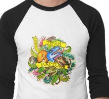 Team Raptor. By Ane Teruel. Men's Baseball ¾ T-Shirt