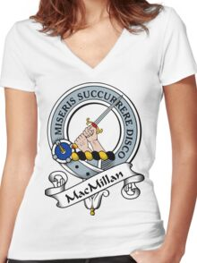 00010 Walker Hunting Clan/Family Tartan  Women's Fitted V-Neck T-Shirt