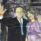 Mr and Mrs cameron outside number 10 by George Coombs