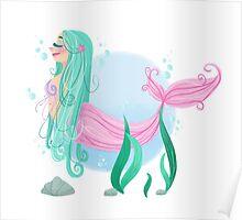 Pastel Mermaid Poster