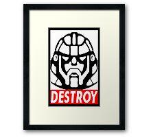 Destroy - Sentinel  Framed Print