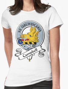 00014 Campbell Clan Tartan  Womens Fitted T-Shirt