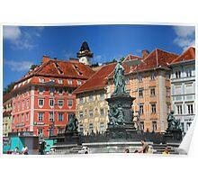Summer day in Graz, Austria Poster