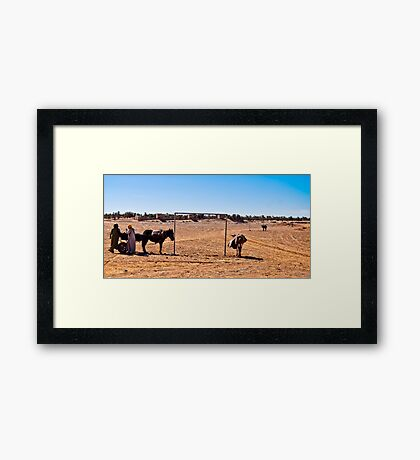World cup fever Framed Print