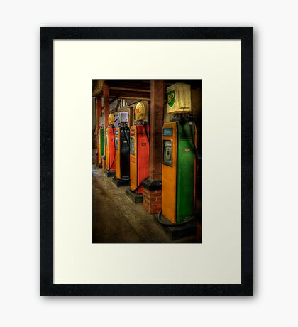 Vintage Pumps Framed Print