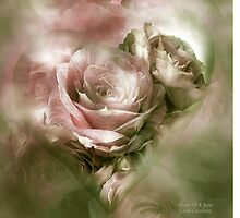 Heart Of A Rose - Antique Pink by Carol  Cavalaris