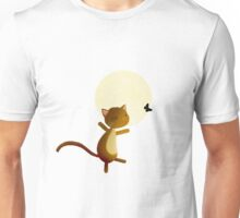 Follow your dreams - cat and butterfly Unisex T-Shirt