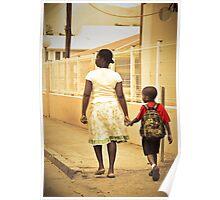 Momma walks me to school... St Martin, NA Poster