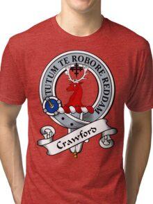 00030 Crawford Clan Tartan Tri-blend T-Shirt