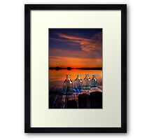 In the morning at 4.33 Framed Print