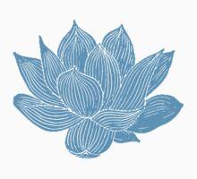Blue Flower Baby Tee