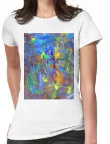 Deep Space Abstract Art Background Womens Fitted T-Shirt