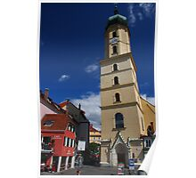 Church of the Franciscans, Graz, on a sunny day Poster