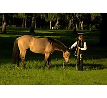 """Good Morning""- Horse & Rider Photographic Print"