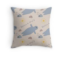 Cartoon baby seal Throw Pillow