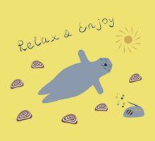 Cartoon baby seal Kids Tee