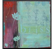 Bliss yoga inspired art for your home or workplace Photographic Print