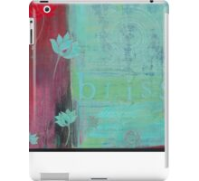 Bliss yoga inspired art for your home or workplace iPad Case/Skin
