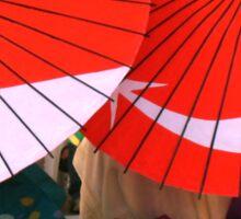 Japanese Umbrellas Sticker
