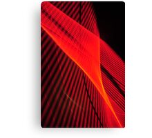 Red wave of neon Canvas Print