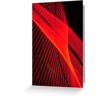 Red wave of neon Greeting Card