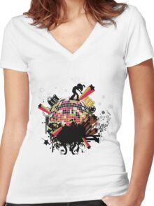 fancy style Women's Fitted V-Neck T-Shirt