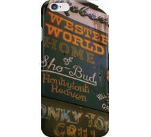 Western World iPhone Case/Skin