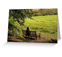 A quiet moment in solitude...  Greeting Card