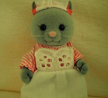 Sylvanian Families ~ Cat Waitress Suzette by Forever Feline