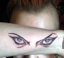Hypnotic Eyes Tattooed! by DreddArt
