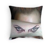 Hypnotic Eyes Tattooed! Throw Pillow