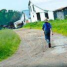 Amish Boy Walking Home by Ryan Conners