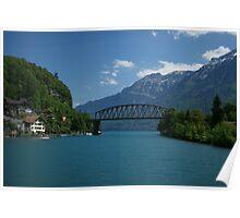 bridge over calm water Poster