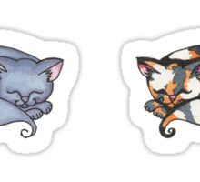 Watercolor Kitties Sticker