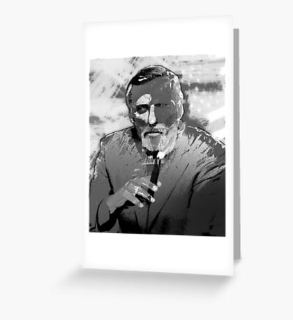 Dennis Hopper Portrait Greeting Card