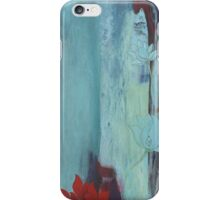 Lotus Blue contemporary abstract peaceful art iPhone Case/Skin