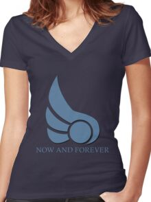 Demacia - Now and Forever Women's Fitted V-Neck T-Shirt