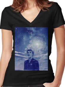 Once Upon a Time Peter Pan Merchandise Women's Fitted V-Neck T-Shirt